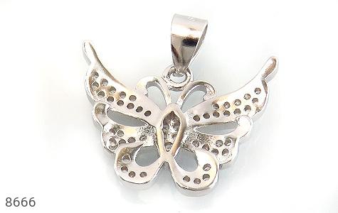 مدال نقره زینتی طرح پروانه زنانه - تصویر 2