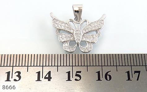 مدال نقره زینتی طرح پروانه زنانه - تصویر 4