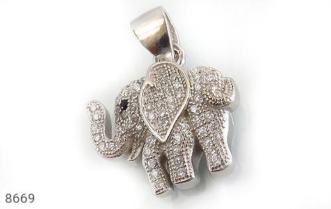 مدال نقره طرح فیل فانتزی زنانه - عکس 1