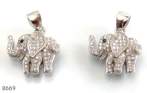 مدال نقره طرح فیل فانتزی زنانه - تصویر 2