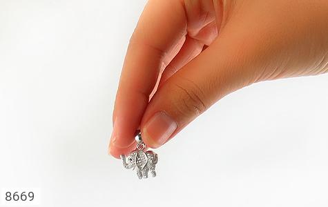 مدال نقره طرح فیل فانتزی زنانه - عکس 5