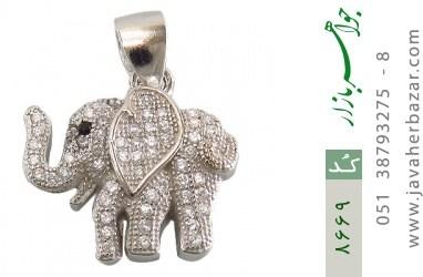 مدال نقره طرح فیل فانتزی زنانه - کد 8669