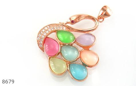 مدال چشم گربه رنگارنگ و باشکوه زنانه - عکس 1