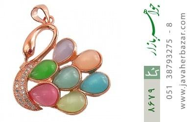 مدال چشم گربه رنگارنگ و باشکوه زنانه - کد 8679