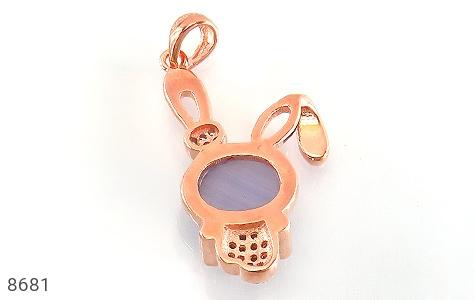 مدال چشم گربه طرح خرگوش بنفش زنانه - تصویر 2