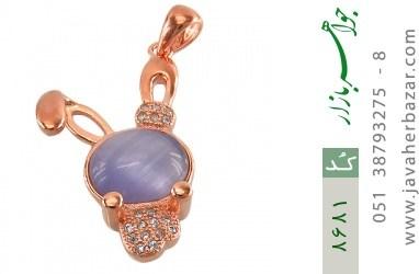 مدال چشم گربه طرح خرگوش بنفش زنانه - کد 8681