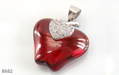 مدال نقره طرح سیب سرخ درشت زنانه - عکس 1
