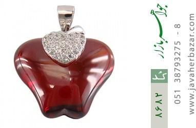 مدال نقره طرح سیب سرخ درشت زنانه - کد 8682