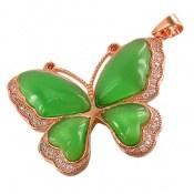 مدال چشم گربه طرح پروانه درشت زنانه
