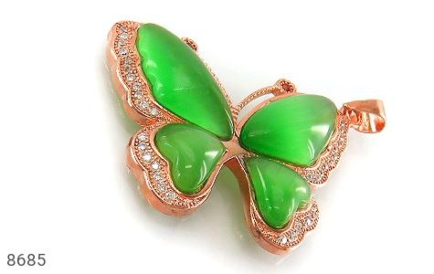 مدال چشم گربه طرح پروانه درشت زنانه - عکس 1