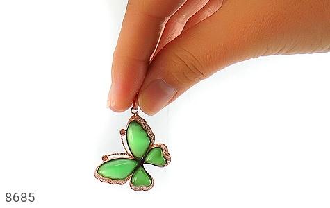 مدال چشم گربه طرح پروانه درشت زنانه - تصویر 4