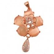 مدال چشم گربه طرح گل زنانه