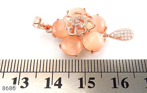 مدال چشم گربه طرح گل زنانه - عکس 3