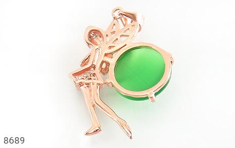 مدال چشم گربه طرح فرشته زنانه - تصویر 2