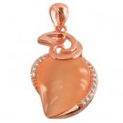 مدال چشم گربه طرح زینتی زنانه