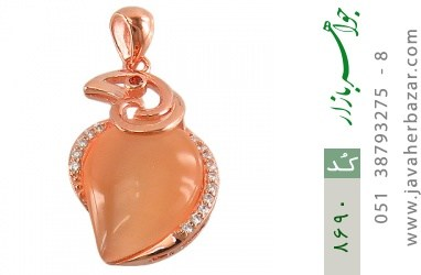 مدال چشم گربه طرح زینتی زنانه - کد 8690