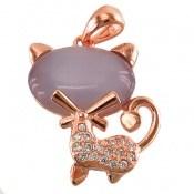 مدال چشم گربه طرح گربه زینتی زنانه