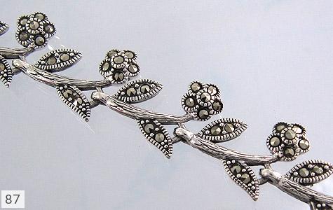 دستبند حدید و مارکازیت زنانه - عکس 1
