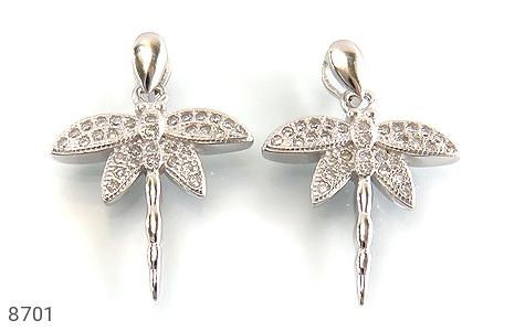 مدال نقره سنجاقک زینتی زنانه - تصویر 2