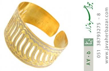 النگو نقره پهن طرح دستبندی فاخر زنانه - کد 8705