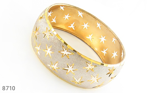 النگو نقره تک پوش طرح ستاره سایز 2 زنانه - عکس 1