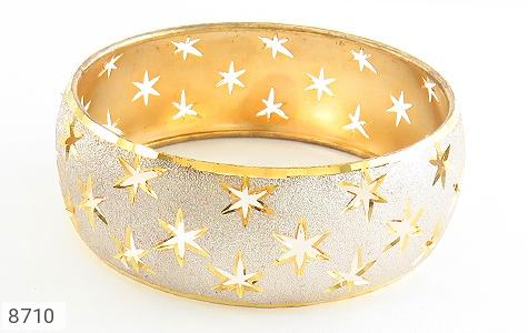 النگو نقره تک پوش طرح ستاره سایز 2 زنانه - تصویر 2