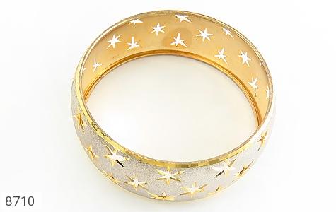 النگو نقره تک پوش طرح ستاره سایز 2 زنانه - عکس 3