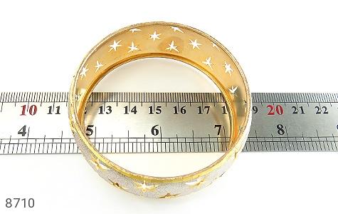 النگو نقره تک پوش طرح ستاره سایز 2 زنانه - تصویر 4