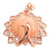 مدال چشم گربه طرح طاووس درشت زنانه