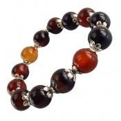 دستبند عقیق سلیمانی خوش رنگ و جذاب درشت زنانه