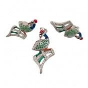 سرویس نقره میناکاری پرنده زینتی لوکس زنانه