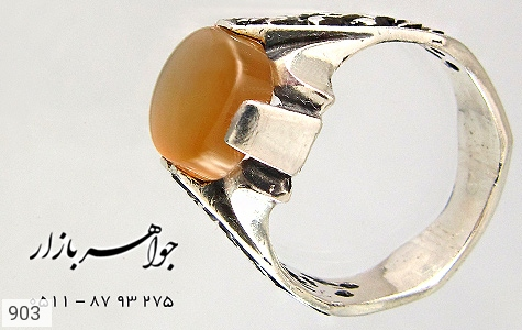انگشتر عقیق حکاکی شرف الشمس قلم زنی یا عباس یا حسین - تصویر 4