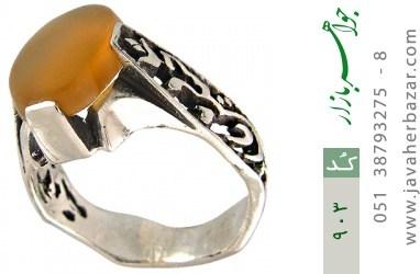 انگشتر عقیق حکاکی شرف الشمس قلم زنی یا عباس یا حسین - کد 903
