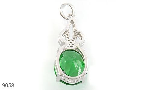 مدال نقره نگین سبز طرح بهار زنانه - تصویر 2