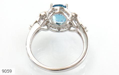 انگشتر نقره نگین آبی درخشان زنانه - تصویر 4