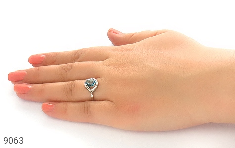 انگشتر نقره طرح درسا زنانه - عکس 5