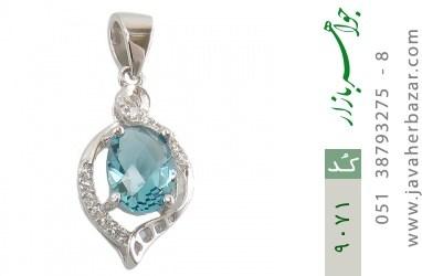 مدال نقره خوش رنگ طرح شیدا زنانه - کد 9071