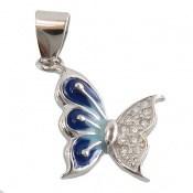 مدال نقره پروانه میناکاری زنانه