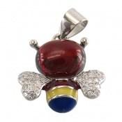 مدال میناکاری طرح زنبور زنانه