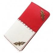کیف چرم طبیعی دو رنگ دست دوز زنانه