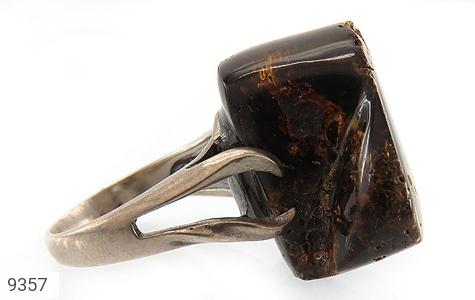انگشتر کهربا رکاب دست ساز - عکس 3