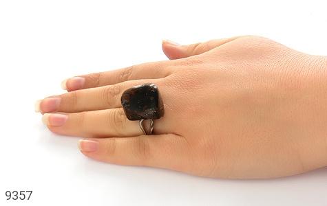 انگشتر کهربا رکاب دست ساز - عکس 7