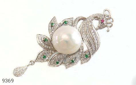 مدال مروارید درخشان طرح طاووس زنانه - عکس 7