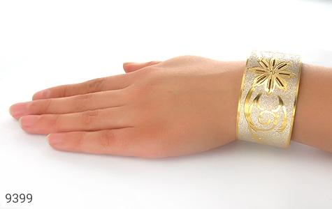 النگو نقره درشت طرح دستبندی فاخر زنانه - تصویر 4