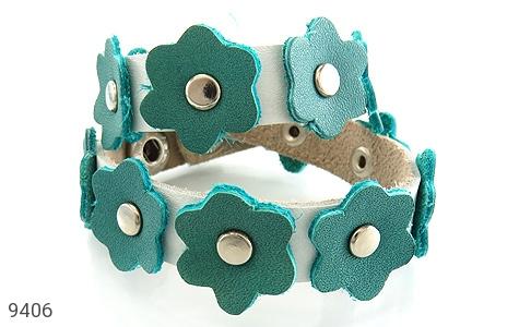 دستبند چرم دست ساز - عکس 1