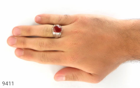 انگشتر عقیق یمن رکاب دست ساز - تصویر 6