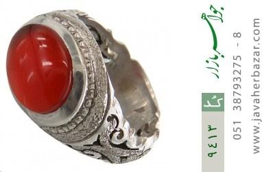 انگشتر عقیق یمن رکاب دست ساز - کد 9413