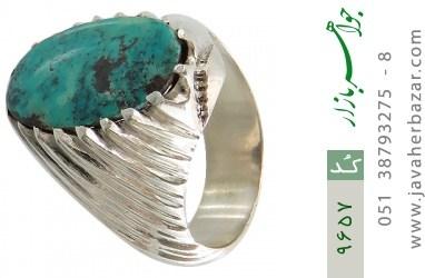 انگشتر فیروزه نیشابوری رکاب دست ساز - کد 9657