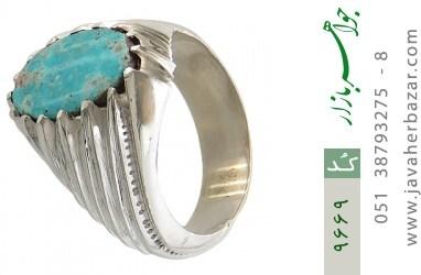 انگشتر فیروزه نیشابوری رکاب دست ساز - کد 9669
