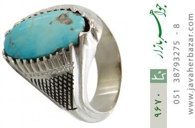 انگشتر فیروزه نیشابوری رکاب دست ساز - کد 9670